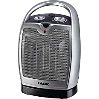 Lasko 5409 Oscillating Ceramic Tabletop/Floor Heater with Thermostat