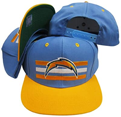 Reebok San Diego Chargers Light Blue/Yellow Two Tone Snapback Adjustable Plastic Snap Back Hat/Cap