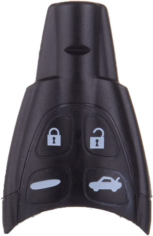 SCITOO Flip Key Fob Shell Compatible with 1PC 2003-2009 Saab 43346 43348 Remote Car Key Fob Shell Pad Case Battery ADP05716705S