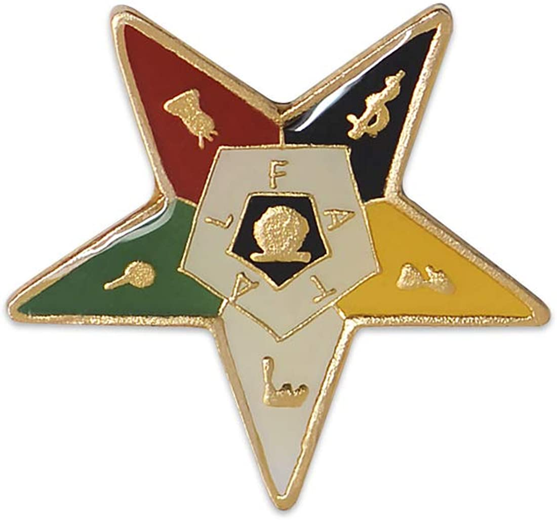 ORDER OF EASTERN STAR 60 YEAR SERVICE AWARD lapel pin gold