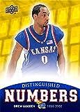 Drew Gooden Basketball Card (Kansas Jayhawks, #0 Jersey) 2013 Upper Deck Distinguished Numbers #DN-13
