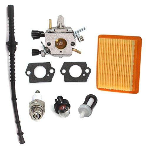 Aisen carburateur Filtre à air pour Stihl FS120FS200fs250FS300fs350ht250sans Schneider Filtre avec tuyau