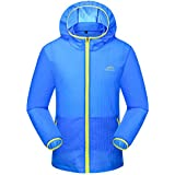 Yifun Outdoor Mens Super Lightweight Hooded Jacket Quick Dry Beach Coat