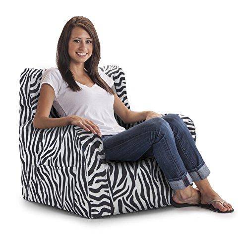 Big Joe Duo Chair, Zebra (Zebra Bean Bag Chair)