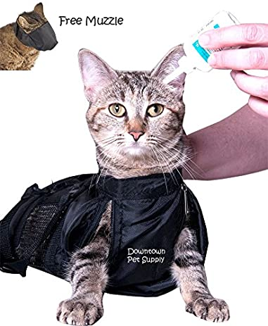 Amazon.com : Cat Grooming Bag - MEDIUM, cat restraint bag   FREE ...