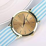 Pocciol Watch,Women Stripe Floral Cloth Quartz Dial Bracelet Wriswatch Clock
