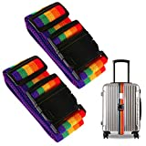 #8: Luggage Strap,Z&L Adjustable Suitcase Belt for Travel Bag Accessories With Address Tag 2Pack