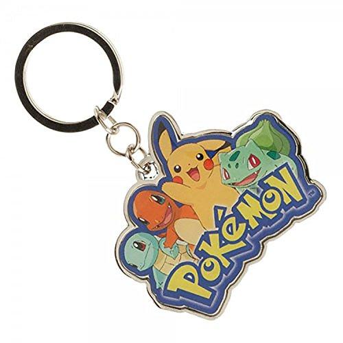 Character Key Ring - bioWorld Pokemon Starters Multi Character Keychain