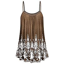 Women Ladies Summer Printing Shirt Sleeveless Vest Tank Casual Tops Blouse Co L