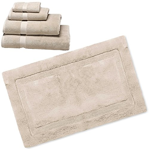 Wamsutta 805 Turkish Cotton Bath Towel Set with Bath Rug (Linen, 24''x40'') by Wamsutta