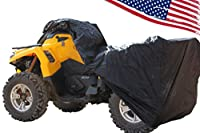 Rhino 4 wheeler ATV Cover - WATERPROOF, WINDPROOF 190T TAPED seams with WIND STRAPS. See list of Quads for sizing in description. Works as LAWNMOWER cover, too. Size LARGE