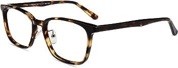 Blenfrei Anti UV Blaulicht Augen-Schutzbrille mit Federschanier Blaulichtfilter Computer Brille gegen Kopfschmerzen firmoo Eckige Blaulicht Brille ohne Sehst/ärke f/ür Damen Herren