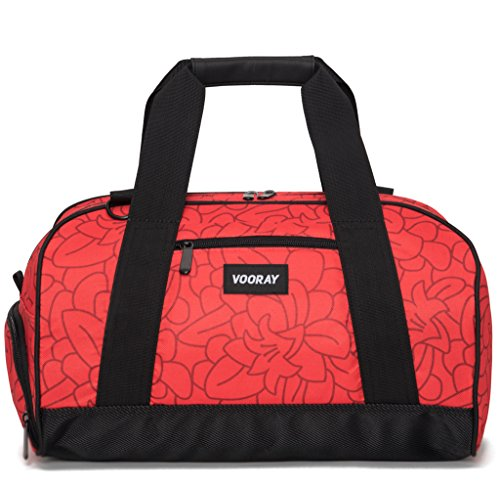 vooray-burner-16-compact-gym-bag-with-shoe-pocket-red-floral
