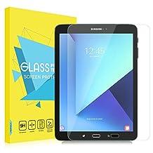 "MoKo Samsung Galaxy Tab S3 / Tab S2 9.7 Inch Screen Protector, [Scratch Terminator] Premium HD Clear 9H Hardness Ballistic Glass Screen Protector for Samsung Tab S3 9.7"" 2017, Tab S2 9.7"" Tablet"