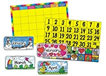 Carson Dellosa Calendar Set: Kid-Drawn Bulletin Board Set (3270)