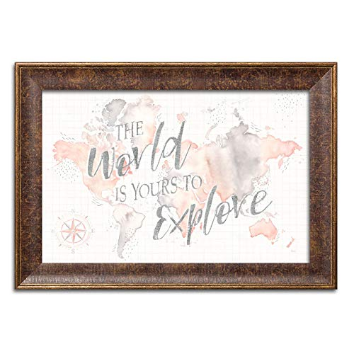 Gango Home Decor Shabby-Chic Wonderful World I by Laura Marshall (Ready to Hang); One 18x12in Gold Trim Framed Print for $<!--$31.99-->