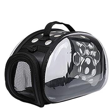 MLpus Mochila para Mascotas Mochila Transparente para Gatos Mochila para Llevar Bolsa para Jaula para Gatos Mochila para Gatos (Color : Negro, ...