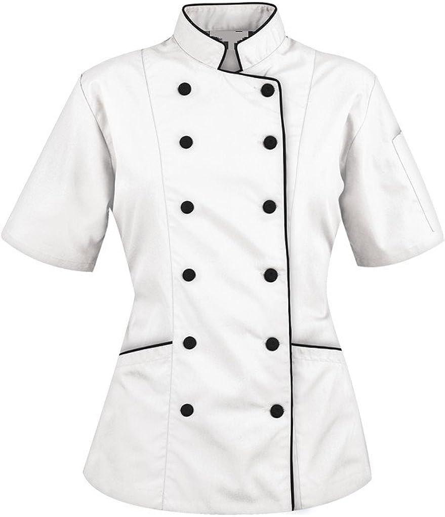 Chef Attires Short Sleeves Womens Ladies Chefs Coat Jackets