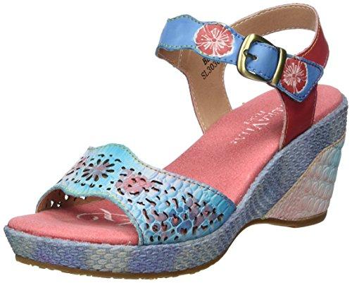 Mujer Para Beaute Vita Multicolor blau Con 02 Sandalias Laura Cuña Y0d5qq