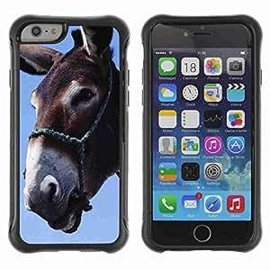 "A-type Arte & diseño Anti-Slip Shockproof TPU Fundas Cover Cubre Case para 4.7"" iPhone 6 ( Funny Donkey Art )"