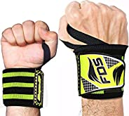 Kanzy Wrist Wraps Weight Lifting 18 Inch Straps Professional Grade with Thumb Loops - Wrist Support Braces for