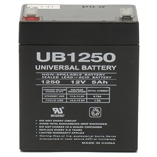 Universal Power Group 12V 5AH SLA Battery Replacement for Honeywell Ademco 20P Security System
