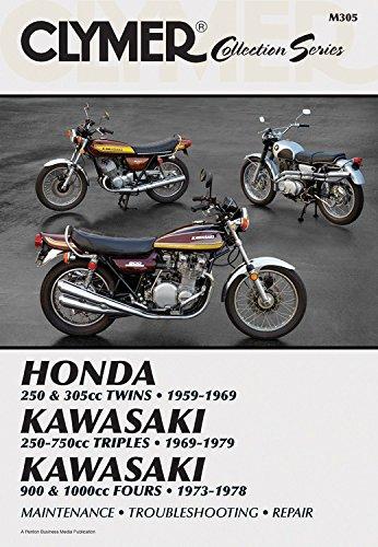 Vintage Honda Motorcycles - Vintage Japanese Street Bikes: Honda, 250 & 305cc Twins, 1959-1969, Kawasaki, 250-750cc Triples, 1969-1979, Kawasaki, 900 & 1000cc Fours, 1973-1978 (Clymer Collection Series/M305)