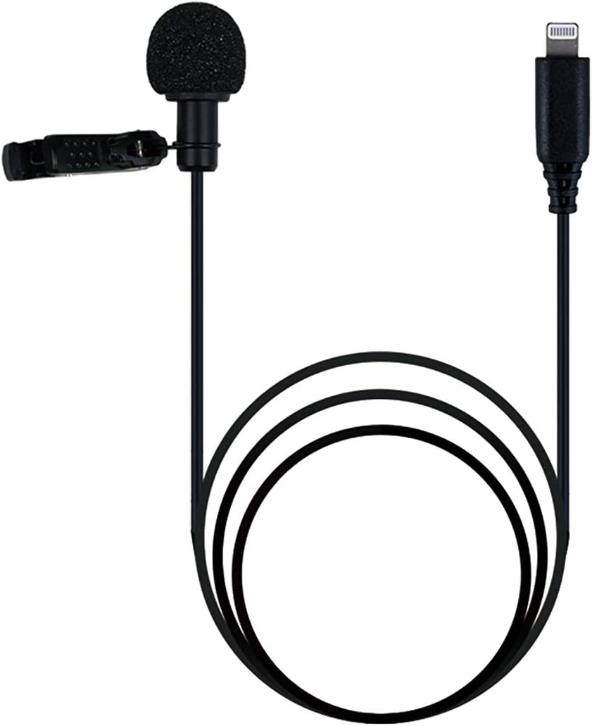 Canfon Professional Grade Lavalier Lapel Omnidirectional Phone Audio Video Recording Lavalier Condenser Microphone for iPhone X Xr Xs max 8 8plus 7 7plus 6 6s 6plus 5 / iPad iOS(6.56ft)