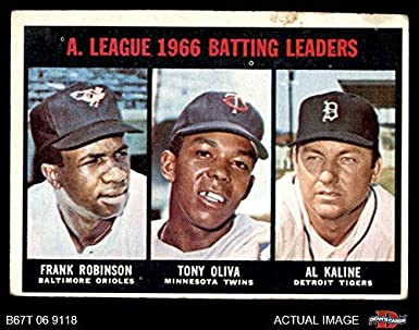 Amazoncom 1967 Topps 239 Al Batting Leaders Al Kaline