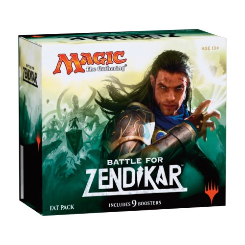 Magic the Gathering (MTG) Battle for Zendikar - Fat Pack (Includes 9 Booster and 80 Full Art Land) by MTG