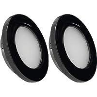 Dream Lighting 12V LED Recessed Down Light Cool White Caravan RV Interior Down Lamp Pack of 2