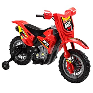 Vroom Rider VR098 6V Battery Operated Dirt Bike, Red