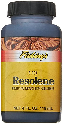 (Fiebing's Black Acrylic Resolene, 4 oz. - Protects Leather Finish)