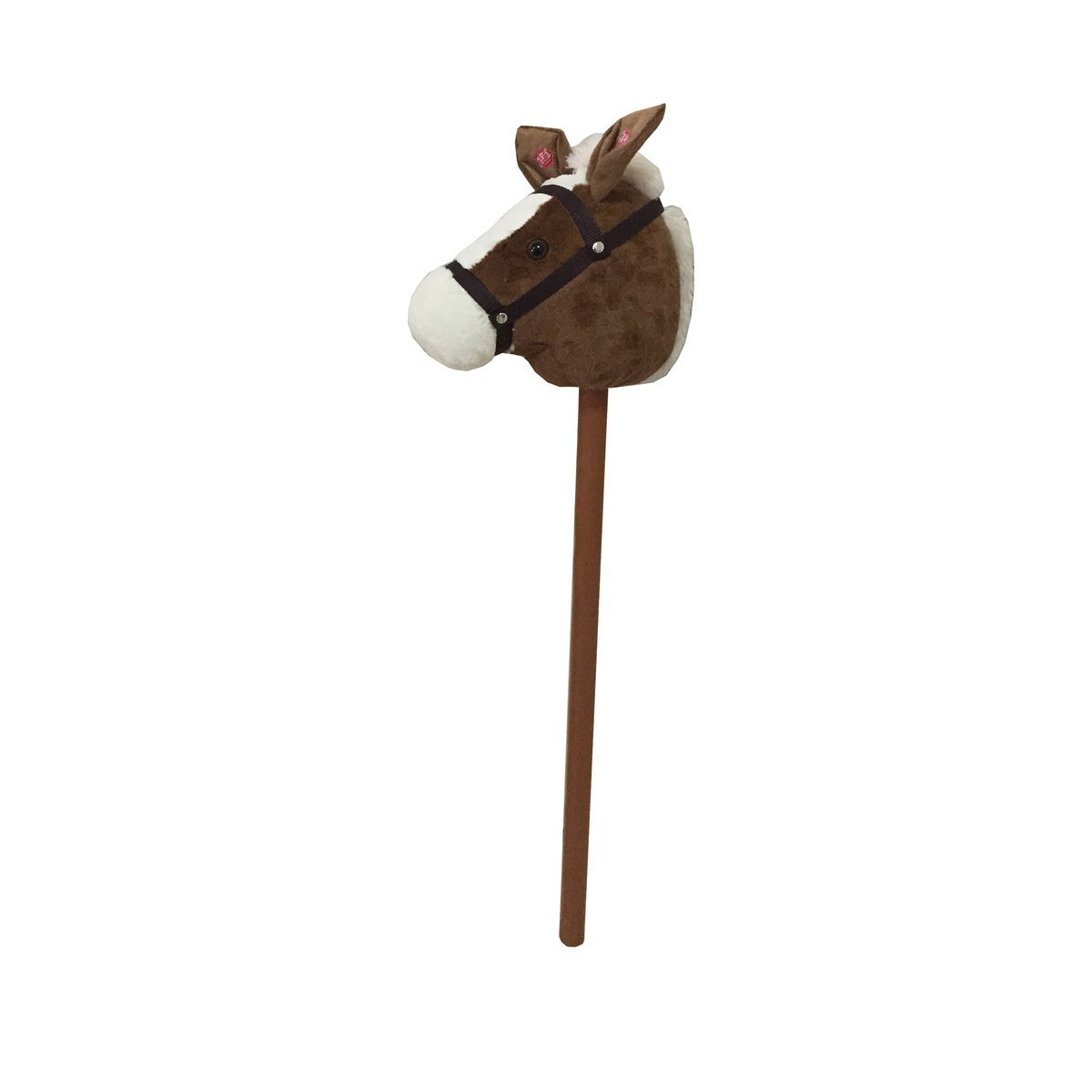 solini Steckenpferd Pferd mit Sound / Kinderspielzeug / Holzspielzeug / ab 18 Monate / 80 cm / braun