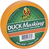 Duck Masking 240883 Orange Color Masking Tape, .94-Inch by 30 Yards