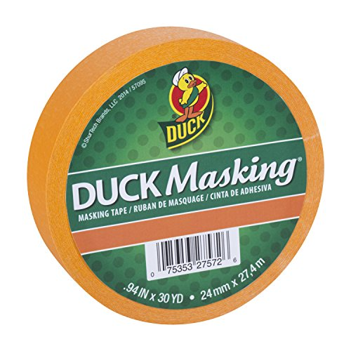 Duck Masking 240883 Orange Color Masking Tape.94-Inch by 30 -