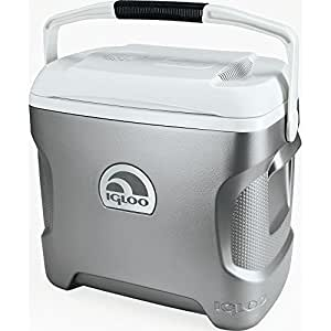 Igloo Iceless Thermoelectric Cooler (Silver/White, 26-Quart)