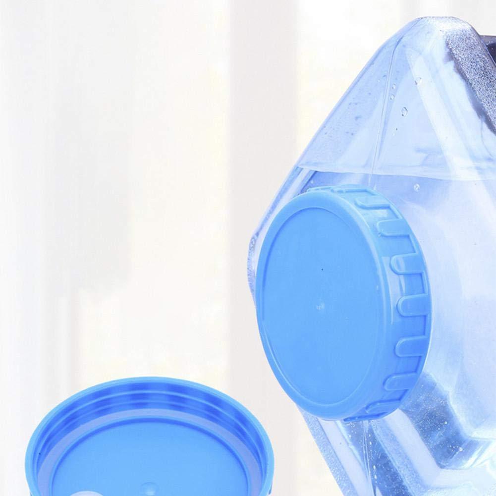 tidystore Botella De Agua De Pl/ástico Reutilizable Libre De BPA De 5L PC Contenedor De Agua Botella De Agua De Reemplazo De Gal/ón Snap On Cap Anti Splash Contenedor De Jarra