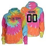 JANT Girl Custom Lacrosse Tie Dye Sweatshirt - Charcoal Lacrosse Play Tough Logo