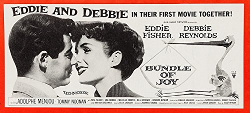 Bundle Of Joy (1957) Original RKO Pictures U.S. Twenty-Four Sheet Movie Poster Rare Exterior Billboard. 9 X 20 Feet. Printed on Multiple Panels. Unused. DEBBIE REYNOLDS EDDIE FISHER Film Directed - Exterior Multiple