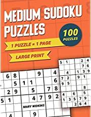 Medium Sudoku Puzzles Large Print 1 Puzzle - 1 Page: 100 Classic Puzzles For Everyday Brain Training