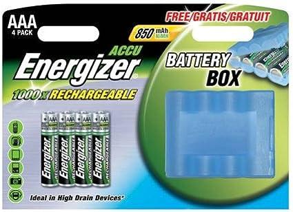 Energizer HR - Pilas 3 AAA 850 mAh con funda transportadora de seguridad (Pack de 4): Amazon.es: Electrónica