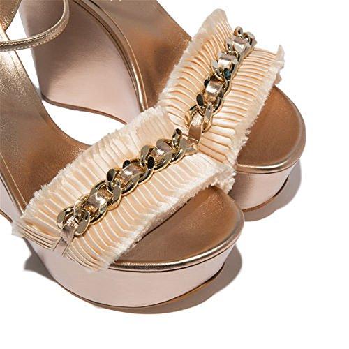 Oro Sandalias 40 Fiesta Mujer Vestir Mirar Dedo Plataforma 35 Porciones Boda Furtivamente Del Señoras Verano Tacón Tamaño Pie Alto Strappy Gold q5OA5H