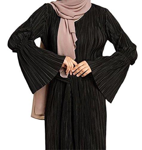 Long Abaya Islamic Sleeves Muslim Women Dress Kaftan Robe Black Jaycargogo Maxi TxwnB7qCwE