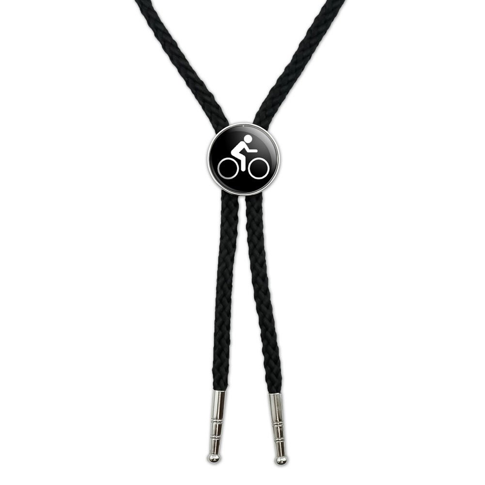 Biking Cycling Symbol Western Southwest Cowboy Necktie Bow Bolo Tie Graphics and More BOLOTIE.PL.0439