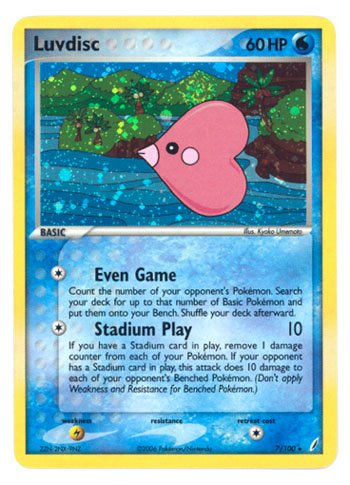 Pokemon EX Crystal Guardians #7 Luvdisc Holofoil Card [Toy]