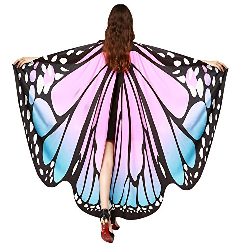 Lisli Halloween Party Butterfly Wings Shawl Fairy Ladies Nymph Pixie Costume Accessory