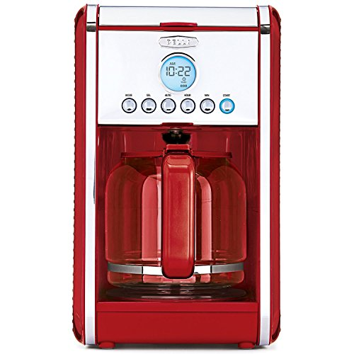 BELLA LINEA Collection 12 Cup Programmable Coffee Maker, Color Red 14108 Collection Coffee Cup