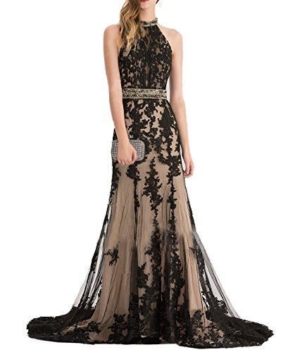 champagne and black mermaid dress - 2