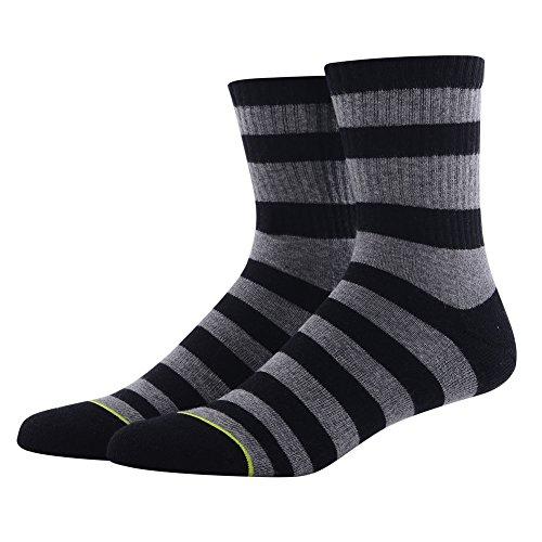 Hiking Socks for Men, MEIKAN Striped Fashion Athletic Quarter Ankle Socks